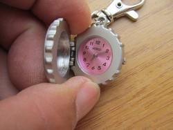 Kulcstartó óra (fém, Mibgi óraszerkezet)