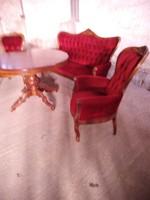 Antik barok 3 darabos ülőgarnitura