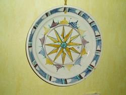 Antik poszthabán cserép tányér, Stomfa