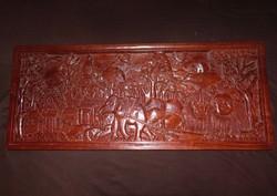 Kínai faragott fa falidísz.