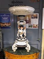 Meissen style porcelán gyümölcstál-nagy méretű-asztalközép-kínáló