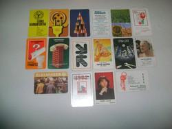 Retro kártyanaptár - 1987 - tizenhat darab - születésnapra, gyűjteménybe