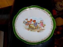 Gyermek mintás antik porcelán tányér