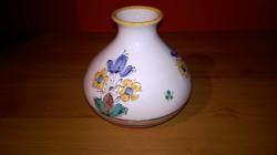 Retró Értékbecsült Zsűrizett,iparművészeti  kivül belül mázas népi kerámia váza.