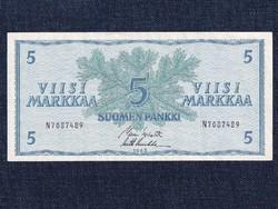 Finnország 5 Márka bankjegy 1963 / id 12941/