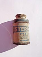 100 év körüli Bisteril fém steril hintőporos doboz