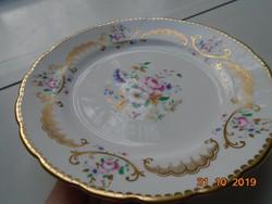 """"""" Royal CHELSEA  ASCOT English Bone China""""jelzéssel arany mintás,virág mintás tányér"""