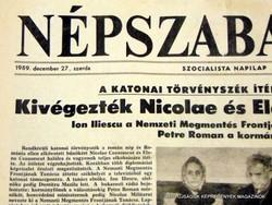 1989.12.27  /  A KATONAI TÖRVÉNYSZÉK ÍTÉLETE ALAPJÁN: Kivégezték Nicole és Elena Ceausescut