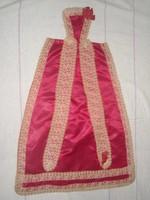 Antik csipkés selyem keresztelőlepel