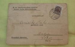 Levelezőlap méntelep katonai parancsnokság. 1942