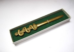 Kígyós,díszes bronz levélbontó