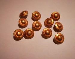 Nagyon szép, női ruházati  fém gombok,aranyszinű ,11 db egyben.