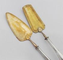 2 darab német 800-as ezüst süteményes lapát