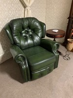 Chesterfield kényelmi fotel ( mauális) Antikzöld
