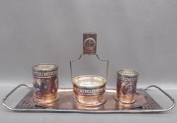   Antik Argentor szecessziós  kínáló szett 1910 körüli