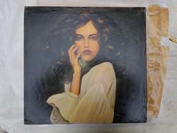 Modern portré, olajfestmény, méret jelezve, szignót nem látok, szép a csaj...