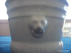 Oroszlánfejes porcelán kaspó