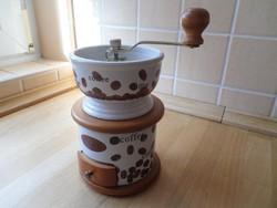 Retro hagyományos porcelán házas kávédaráló kávéőrlő daráló