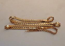 Gyönyörű szélesebb arany nyaklánc 5.1g