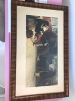 Festmény másolat,L.Balestrieri festmény,címe Kreutzer Szonáta
