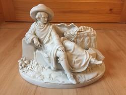 Goethe német kerámia biszkvit jelzett