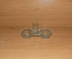 Régi üveg sótartó borstartó (14/d-1)