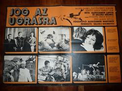 Karácsonyi ajándék ötlet! Antik filmplakát: JOG AZ UGRÁSRA (1973. szovjet)
