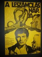 Karácsonyi ajándék ötlet! Antik filmplakát: A LESZÁMOLÁS NAPJA
