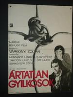 Karácsonyi ajándék ötlet! Antik filmplakát: ÁRTATLAN GYILKOSOK