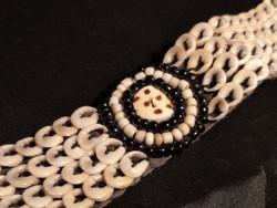 Antik, kagylókból készült, nyakék, nyakpánt