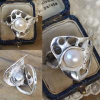 Gyönyörű ezüst gyűrű!! édesvízi gyönggyel!!