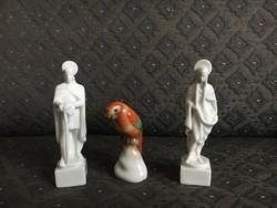 3 db Herendi figura egyben eladó (szentek és papagáj)