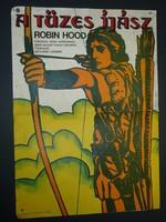 Karácsonyi ajándék ötlet! Antik filmplakát: A TÜZES ÍJÁSZ ROBIN HOOD