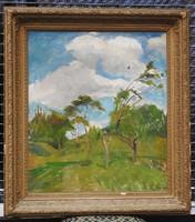 Benkhard Ágost (1882 - 1961) olajfestménye 1942-ből. Jelzett, eredeti!