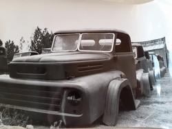 Régi fotó vintage autós fénykép Csepel 450 teherautó
