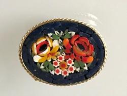 Mikromozaik bross gyönyörű színekkel