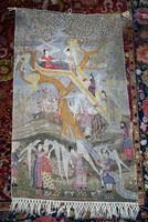 """Szecesszió korabeli gobelin falikárpit """"A Paradicsom egy mohamedánus művész remekműve után"""""""