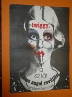 Karácsonyi ajándék ötlet! Antik filmplakát: TWIGGY, A SZTÁR (1973)