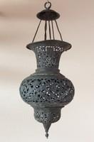 Török vagy arab réz lanterna ( mécsestartó lámpa ) 19. század vége, 20. eleje