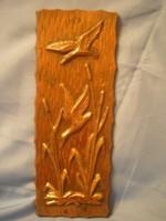Bronzosított Domborított Falikép 25 x 9 -cm-es