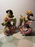 2 db. olasz luxusporcelán  ( méretes, 30 és 31 cm magasak ) nehéz porcelánok, akár Karácsonyra is