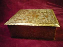 Szelence, antik patinás réz vadászjelenetes