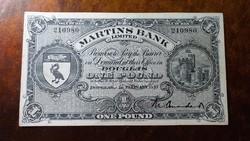 Man sziget 1 pound 1957 aunc+