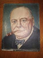 Olajfestmèny szignált portrè