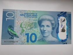 Új- Zéland  10 dollár 2015 UNC