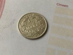 "1913""J""ezüst fél márka 2,75 gramm 0,900 gyönyörű,ritka darab"