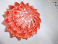 Retro rózsaszín  üveg cukortartó