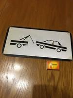 Retro tábla - Parkolni nem szerencsés jelzés