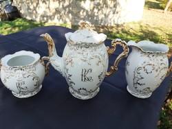 Monogramos,  szecessziós  kávé-tea szett