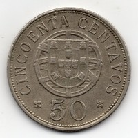 Portugál Angola 50 centavos, 1927, ritka